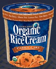 carrot cake organic rice cream