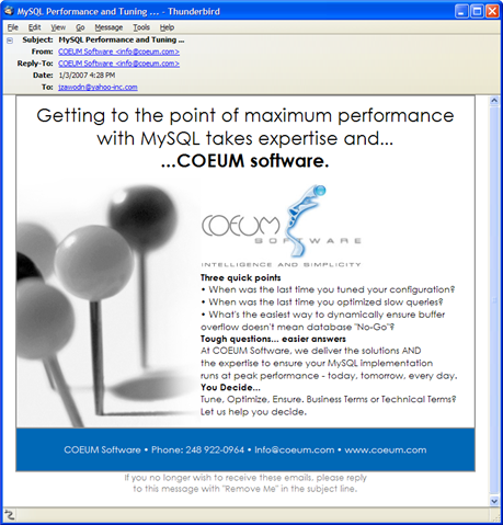 coeum software: spammers