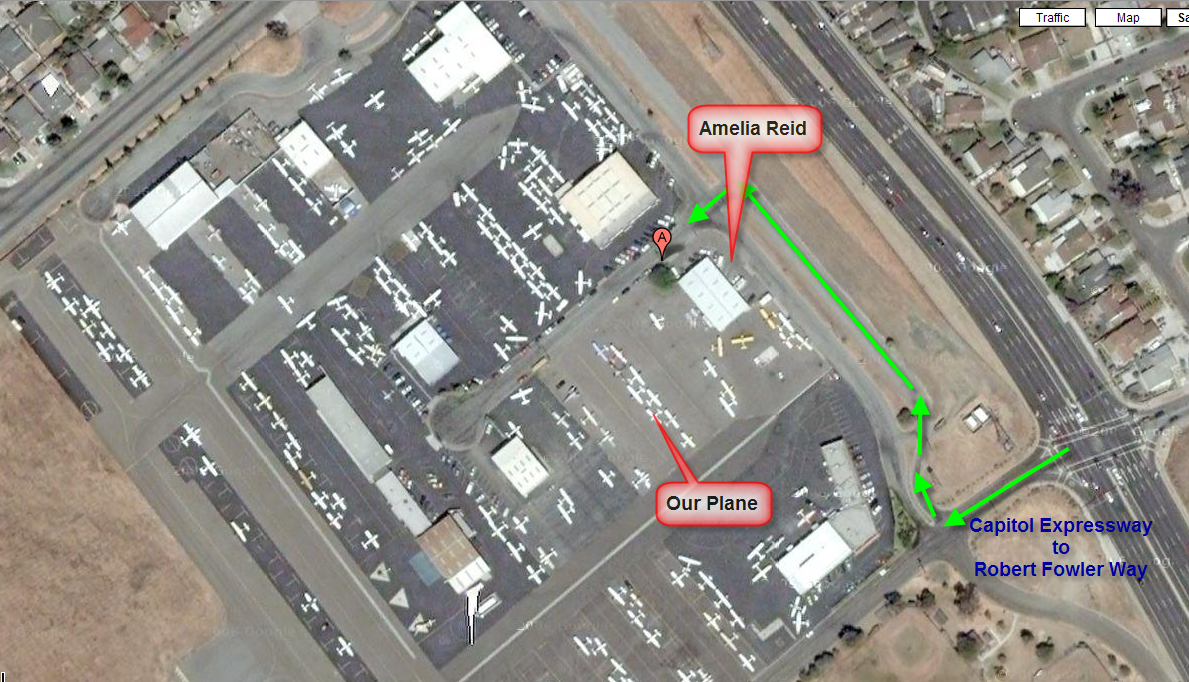 Directions to N5156X at Amelia Reid Aviation