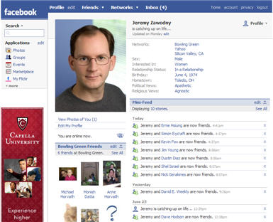 my facebook profile