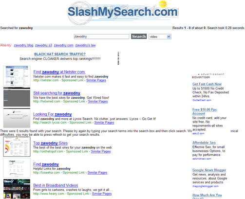 worst search results page ever